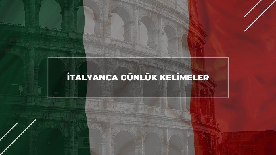 İtalyanca Günlük Kelimeler
